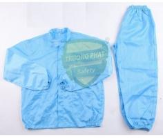 Bộ quần áo rời không mũ - chống tĩnh điện màu xanh