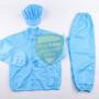 Bộ quần áo rời chống tính điện màu xanh