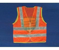 Áo lưới màu cam phản quang bạc có túi