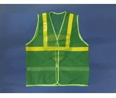 Áo lưới xanh lá cây phản quang vàng APQ-16