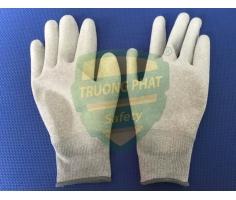 Găng tay chống tĩnh điện cacbon phủ PU lòng bàn tay