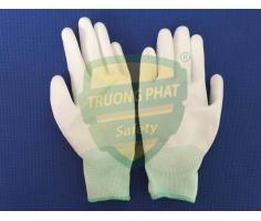 Găng tay phủ PU lòng bàn tay màu trắng X3-115W